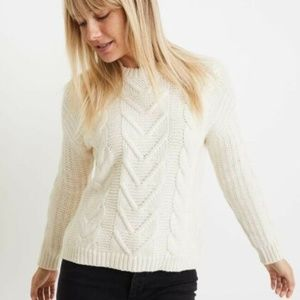 Marine Layer Stretchy Cable Knit Chunky Sweater